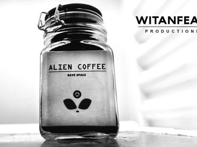 Como hacer el diseño para un frasco de café. Alien Coffee