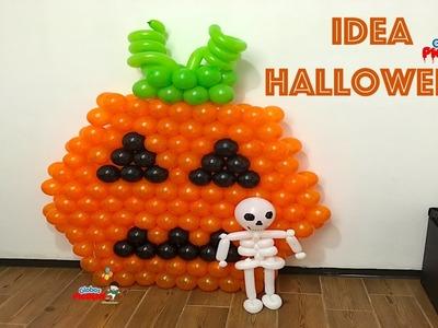 Como hacer una calabaza para halloween con globos