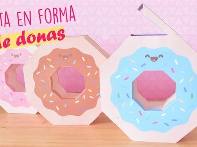 DIY EXPRESS! ~ HAZ CAJITAS EN FORMA DE DONAS #CinCraft