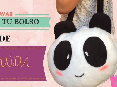 HAZ TU BOLSO.MOCHILA DE PANDA kawaii DIY REGRESO A CLASES FACIL