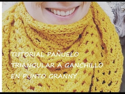 TUTORIAL PAÑUELO TRIANGULAR A GANCHILLO ( CROCHET)