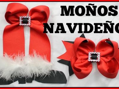 2 MOÑOS NAVIDEÑOS | FACILES Y ELEGANTES | CHRISTMAS HAIR BOWS