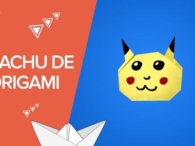 Cómo hacer un Pikachu de origami | Pokemon de papel paso a paso