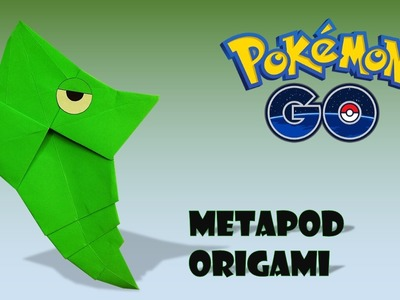 POKEMON - ORIGAMI METAPOD TUTORIAL DIY origami de papel origami facil