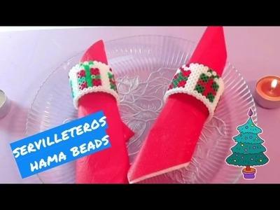 Servilletero Perler-beads NAVIDEÑO!!