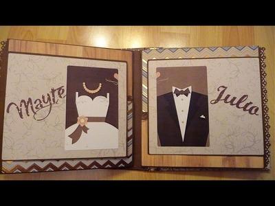 Álbum de fotos boda personalizado original III. Álbum boda scrapbook. Regalo para boda