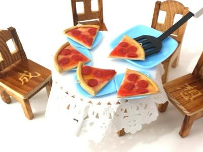 Collar de pizza kawaii arcilla polimerica + ASMR #1
