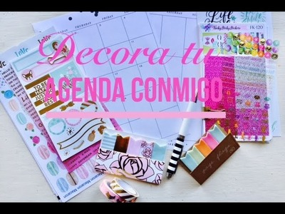 Decora tu agenda conmigo usando mi Happy planner febrero