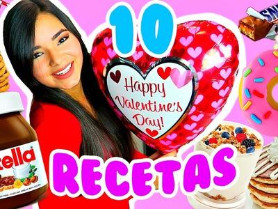 10 RECETAS Y REGALOS FÁCILES PARA SAN VALENTIN!!! DIY | Gabriela Isabel