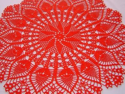 Centro de mesa a crochet tutorial completo DIY parte 4.4