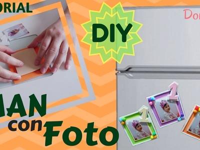 Como hacer un IMAN para la NEVERA con FOTO -- DIY -- Manualidad muy fácil -- Doruba