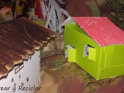 Cómo hacer una casita de cartón muy fácil DIY