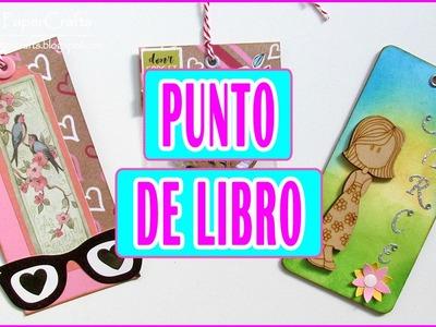 DIY 3 ideas de Punto de Libro | Cómo hacer Marcapáginas | Tutorial Scrapbooking Luisa PaperCrafts