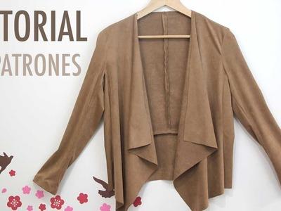 DIY Costura ropa mujer: Chaqueta de ante (patrones gratis)