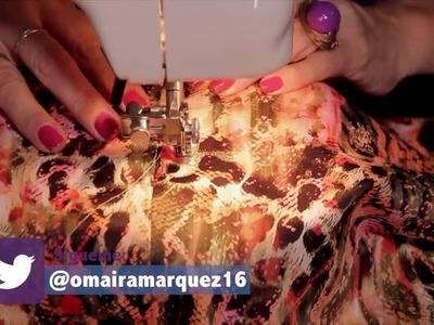 DIY Falda tubo o lápiz postura de cierre y pretina - OmairaTV