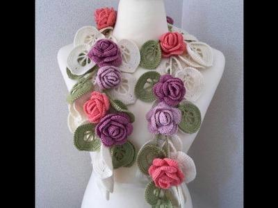 Hermosos collares de dama tejidos a crochet