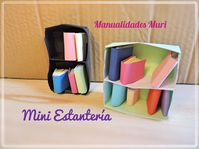 Origami Bookcase - Papiroflexia Mini Estantería. Tutorial, Diy.