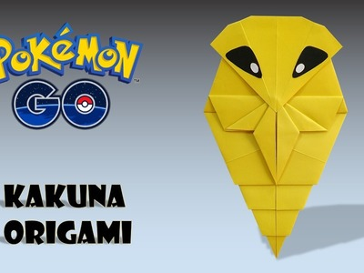 POKEMON - ORIGAMI KAKUNA TUTORIAL DIY how to make origami kakuna