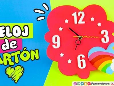 RELOJ DE CARTÓN ❤️ SAN VALENTIN DIY ❤️ 14 de Febrero ❤️ ✔ ★ DIY y MANUALIDADES FACILES ★