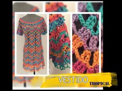 TEJIDO P1 VESTIDO TROPICAL - Crochet Fácil y Rápido - Yo Tejo con LAURA CEPEDA