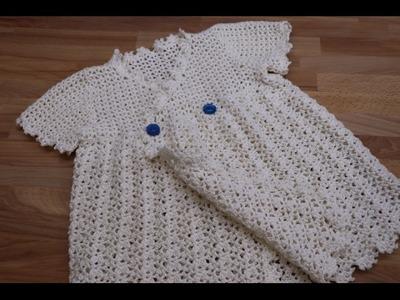 Vestido Crochet para Niña de 1 año parte 1.2