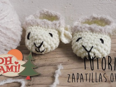 Zapatillas Oveja superfáciles a crochet (Todas las tallas)- Crochet Sheep Slippers