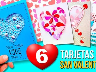 ???? 6 ORIGINALES Tarjetas San Valentin FÁCILES de PINTEREST! * DIY MANUALIDADES Día de los Enamorados