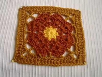 Crochet paso a paso en español granny square