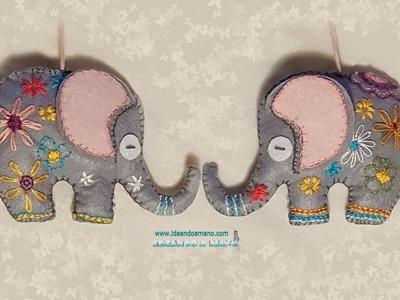 DIY elefante de fieltro