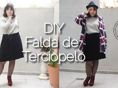 DIY Falda de Terciopelo | Velvet Skirt