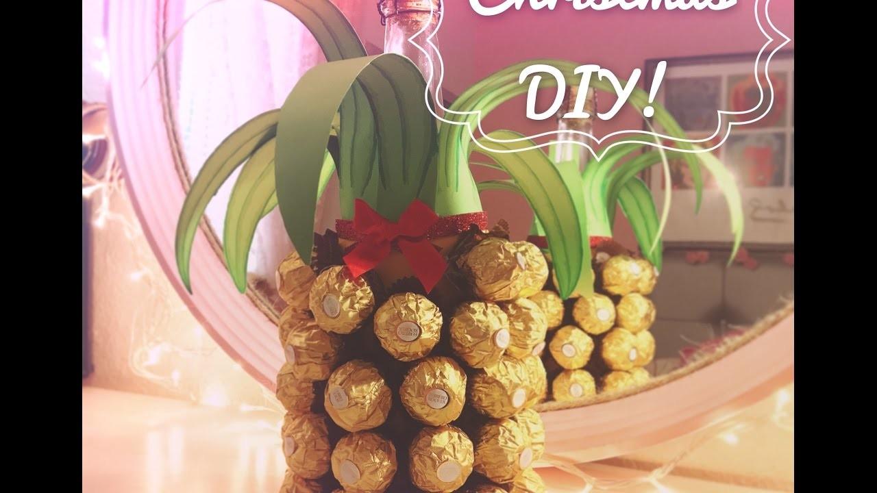 DIY Gift! Botella piña Ferrero Rocher!