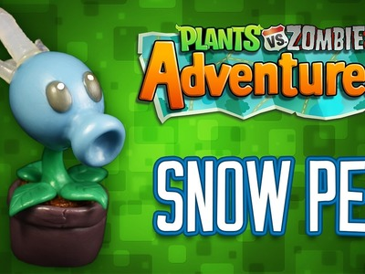 DIY SNOW PEA | HIELAGUISANTES Cold Porcelain. Polymer Clay Tutorial | PLANTS VS ZOMBIES ADVENTURES