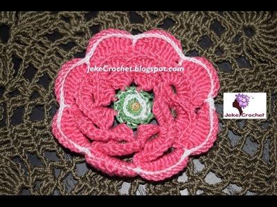 ????Flor Victoria Ganchillo- Crochet- Uncinetto- Paso a Paso