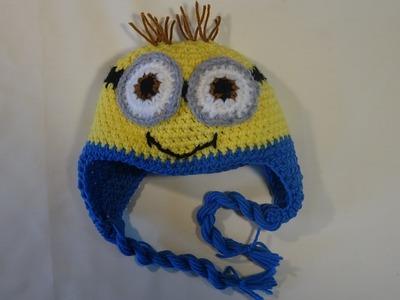 Gorro  minion para ninos.How to crochet minion hat