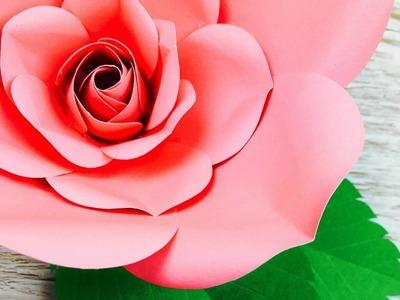 ???? ROSA GRANDE EN PAPEL | COMO HACER UNA ROSA EN PAPEL | LARGE PAPER ROSE ????