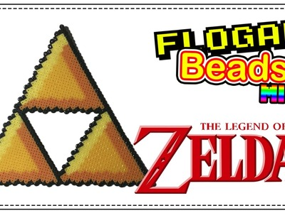 TRIFUERZA THE LEGEND OF ZELDA - HAMA BEADS MINI #2 - DIY - FLOGAR BEADS TUTORIALES
