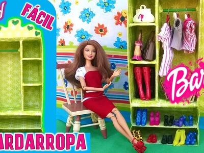 Como hacer GUARDARROPA para muñecas BARBIE   DIY-Manualidades muñecas