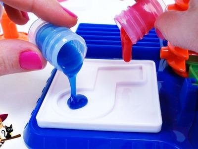 Las Pegatinas Hechas de Slime ???? Juguetes de Manualidades para Niños