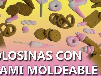 Manualidades con foamy moldeable | COMO HACER GOLOSINAS CON FOAMY MOLDEABLE