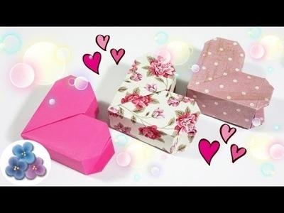 Origami: Cajas de Regalo Originales Corazon de San Valentin Cajas de Papel Faciles Pintura Facil