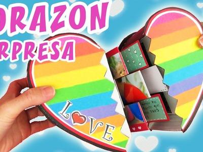 Tarjeta Corazon SORPRESA - SAN Valentin | Manualidades aPasos