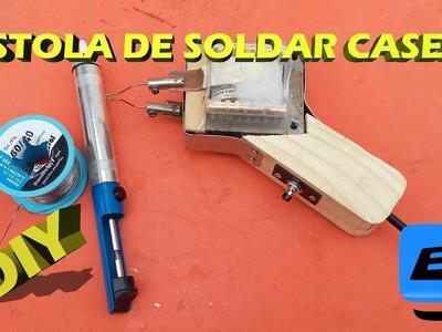 Como hacer un cautin casero Electric soldering iron DIY
