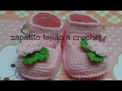 Como hacer unos zapatitos tejidos a crochet