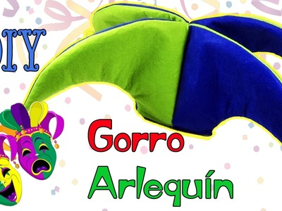 DIY Gorro de Arlequín - Bufón ???? Ecobrisa DIY