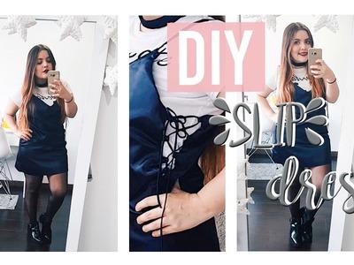 DIY LACE- UP SLIP DRESS ♡ | Nati Aristi