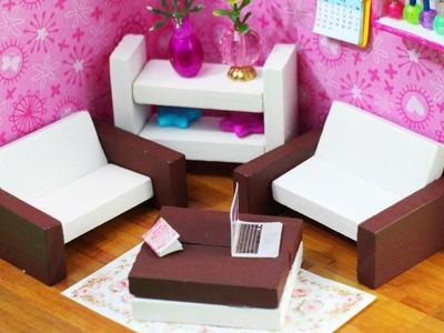 DIY Muebles en Miniatura para la casita de muñecas