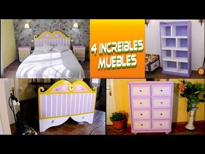 Recopilación de 4 Increíbles muebles hechos con cartón. DIY