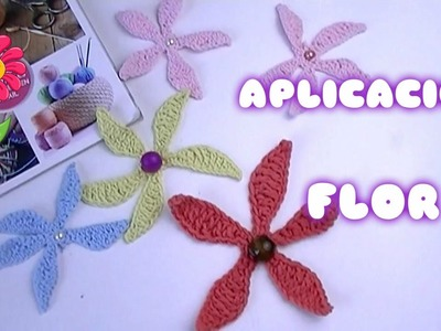 TEJER EN GANCHILLO FACIL FLORES DE UNA SOLA VEZ.creates beautiful flowers crochet cute gifts????