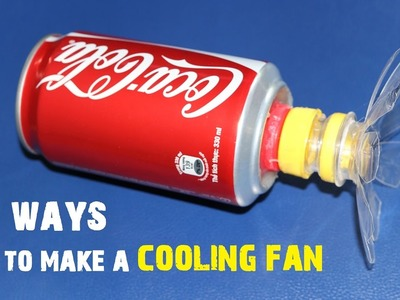 4 maneras creativas de hacer un ventilador de refrigeración en casa