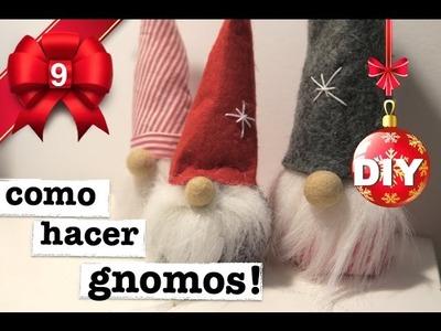 COMO HACER GNOMOS DE NAVIDAD! 3 MANERAS! SUPER FACIL!
